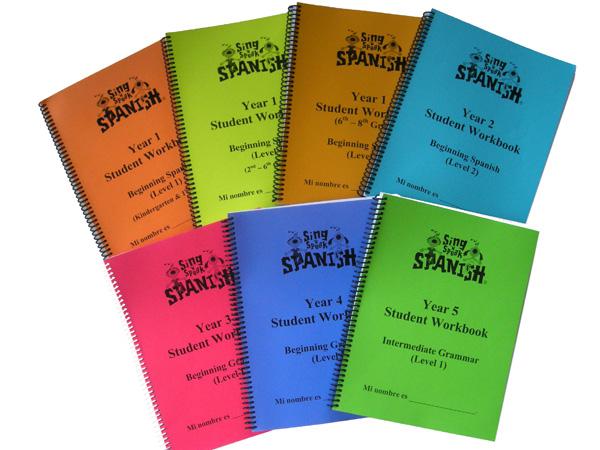 spanish student workbooks sing n speak spanish spanish classes